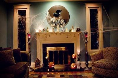 decoración sala halloween