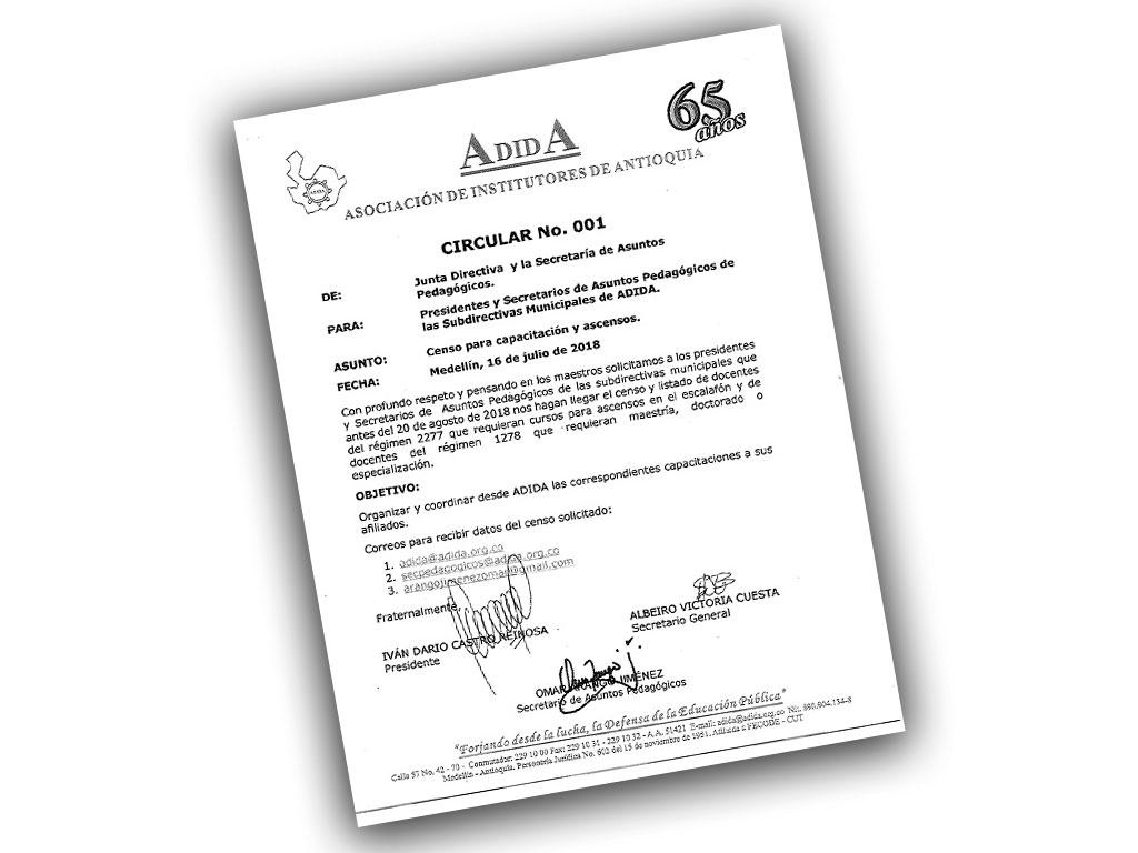 Censo para capacitación y ascensos