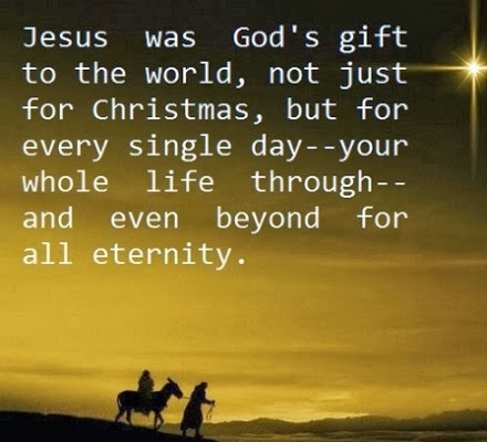 jesus was god 39 s gift to the world not just for christmas