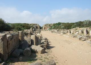 Blick in Richtung Nordtor / nördliche Verteidigungsanlagen der Akropolis