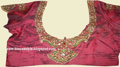 gemstone attached blouse