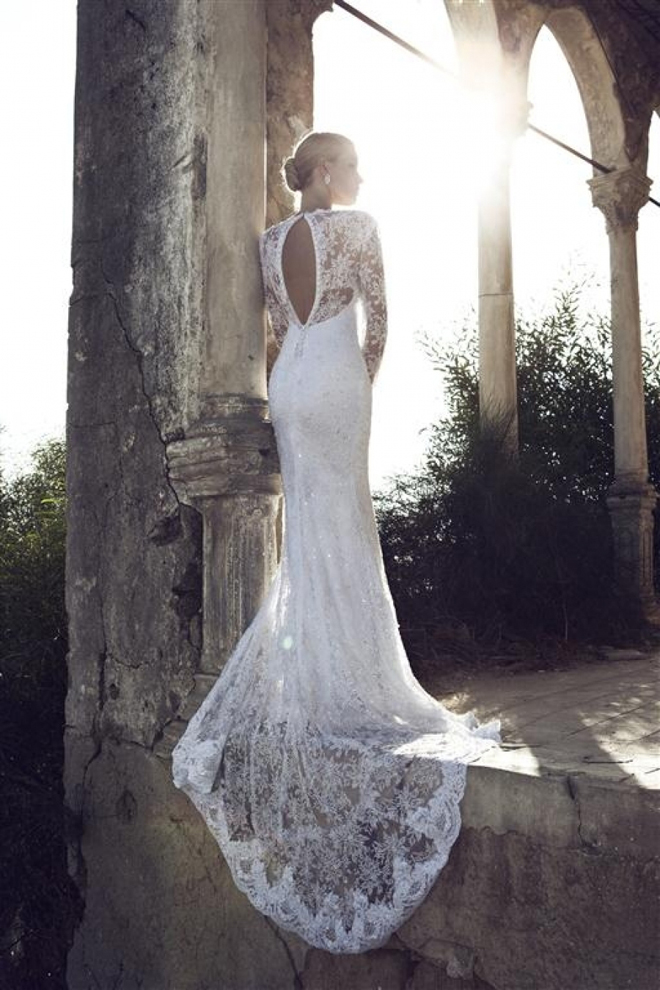 Wedding Dresses With Lace Sleeves And Open Back 68