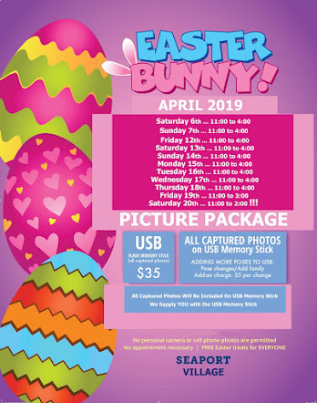 APRIL 2019 EASTER BUNNY SCHEDULE