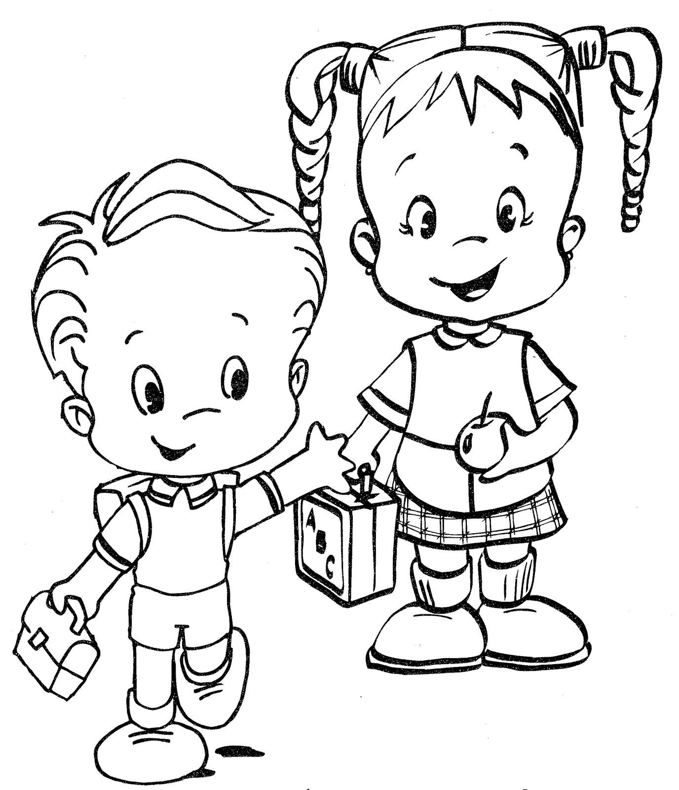 Colorea tus dibujos ni os regresando a clases para - Ninos en clase dibujo ...