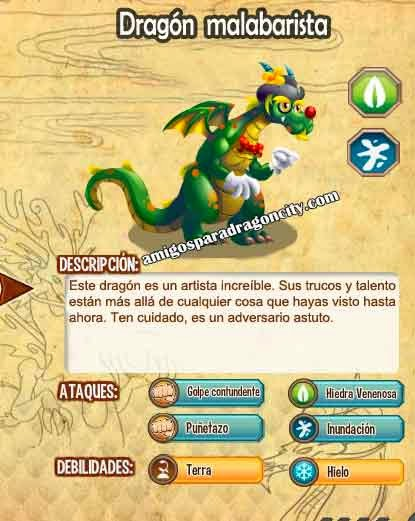 imagen de las caracteristicas del dragon malabarista