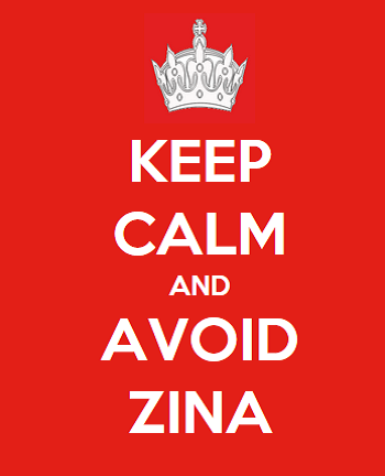 Keep Calm And Avoid Zina