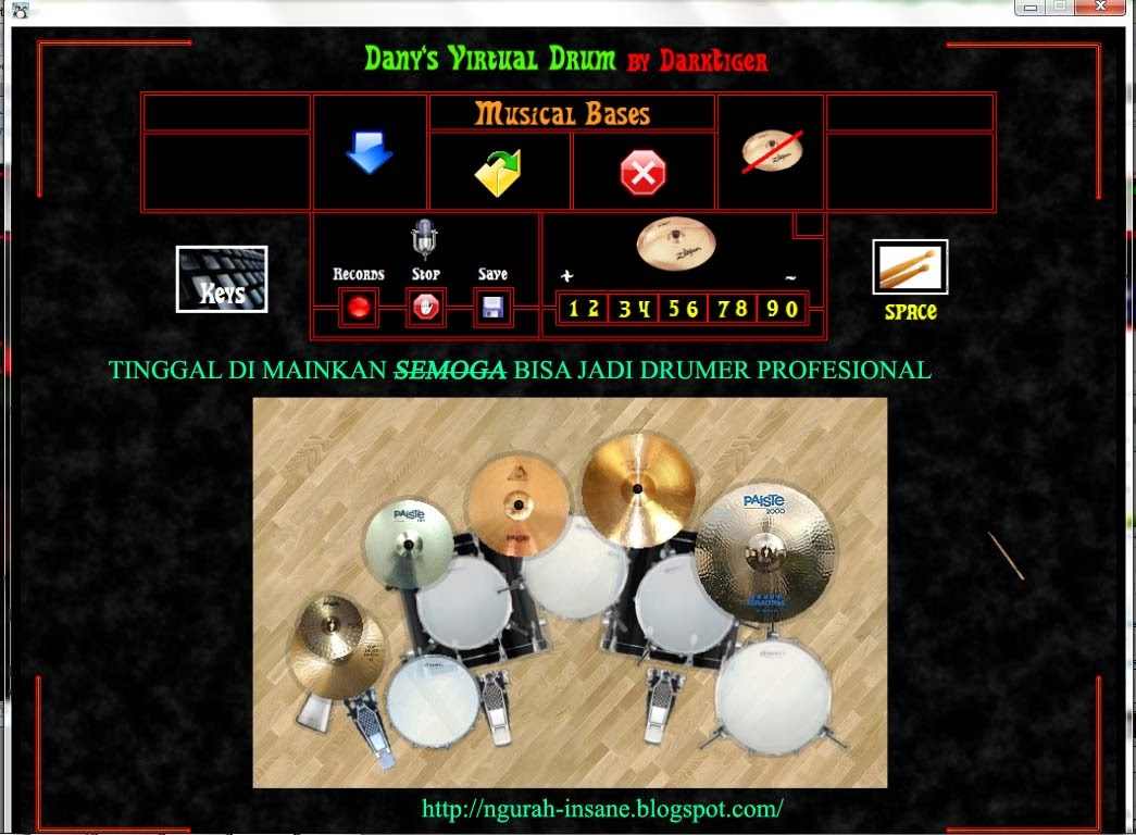 dany virtual drum playing