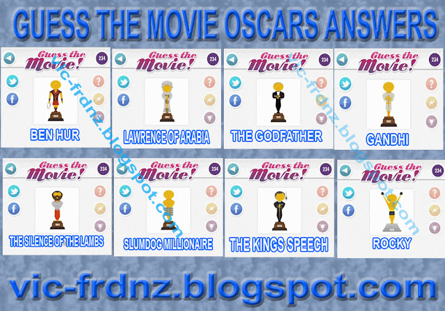 Guess The Movie Oscars