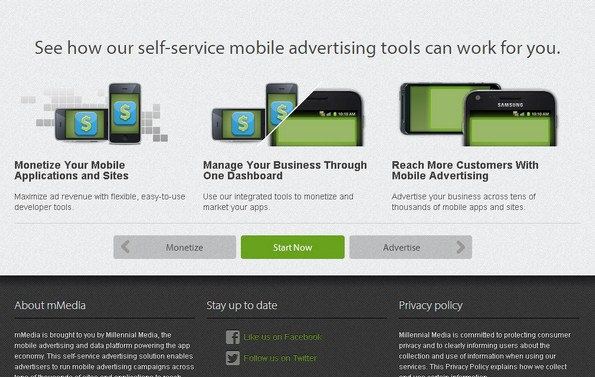 mMedia mobile monetization network