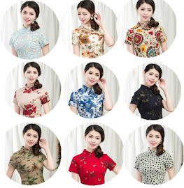 2018 9-Design Floral Cheongsam Top