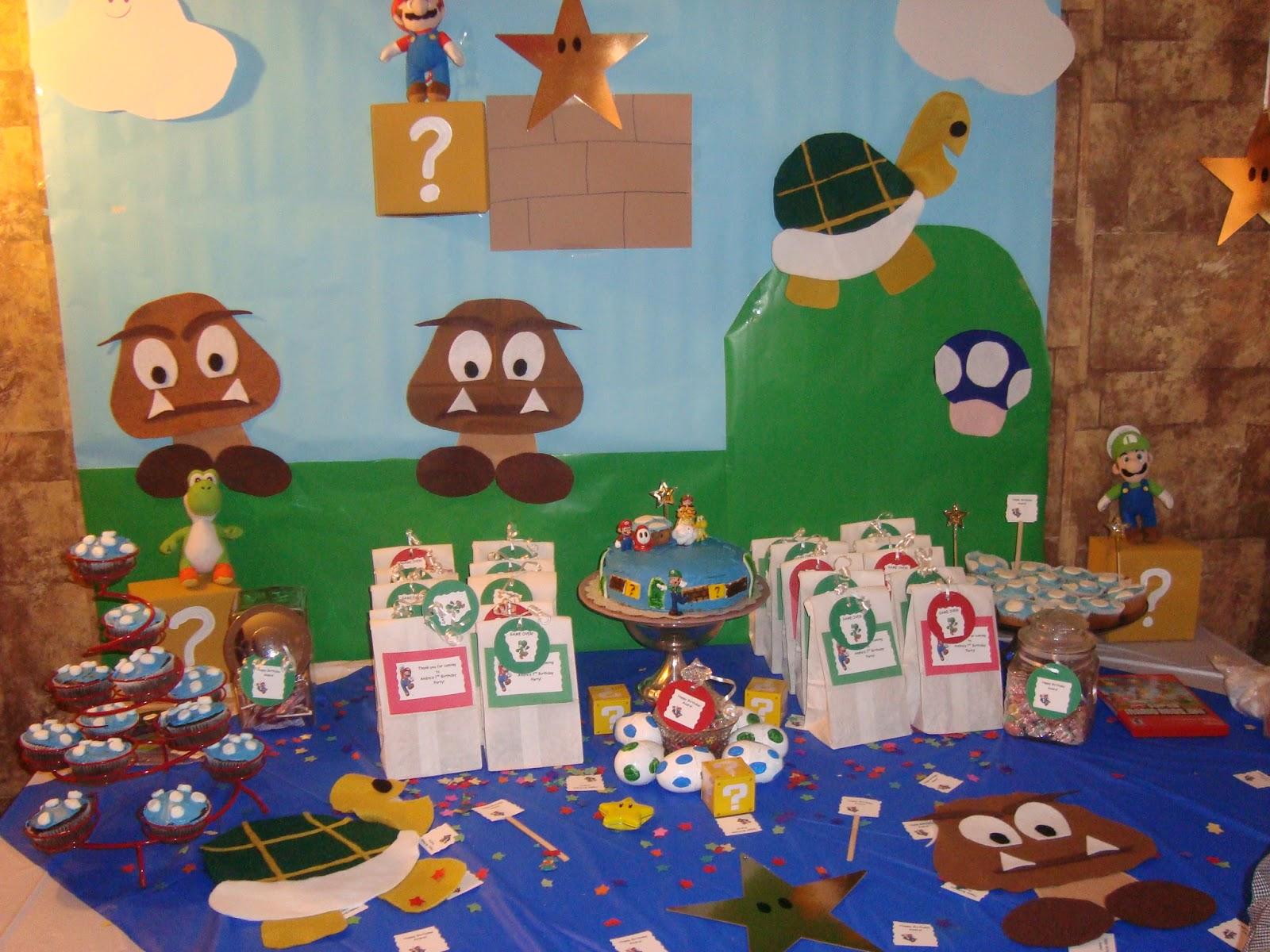 Evey 39 s creations super mario bros party for Mario decorations
