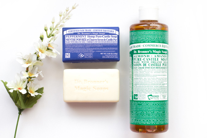 dr bronner's magic soap peppermint bar almond liquid review
