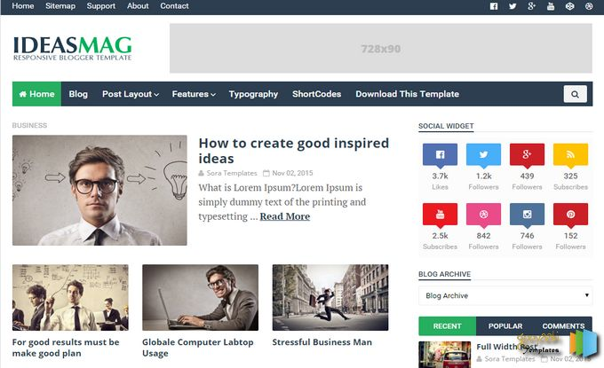 Download - Ideas Mag Responsive Blogger Template