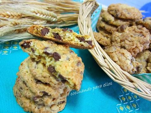 Cocinando para ellos galletas de avena y nueces - Cocinando para ellos ...