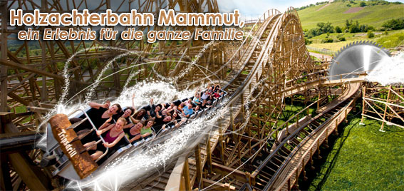Holzachterbahn Mammut Tripsdrill Freizeitpark
