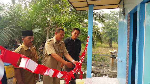 Inalum Bangun Halte, MCK dan Sarana Air Bersih di Tanjung Balai