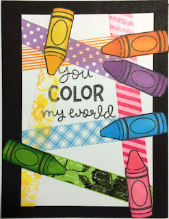 You Color My World Card - Katemade Designs ©2016