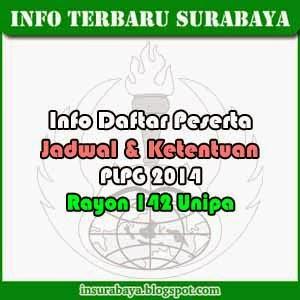 Daftar Nama Peserta PLPG 2014 Rayon 142 Unipa Surabaya