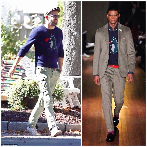Ryan Reynolds wears MICHAEL BASTIAN DINOSAUR MONSTER INTARSIA CASHMERE SWEATER