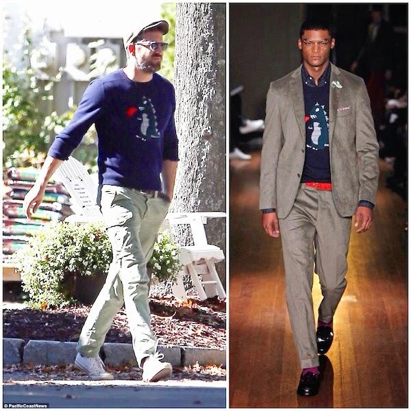Ryan Reynolds wears MICHAEL BASTIAN DINOSAUR MONSTER INTARSIA CASHMERE SWEATER