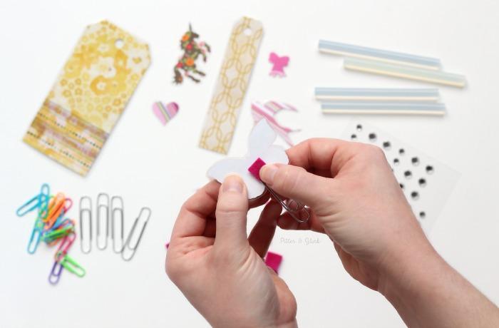 Assembling handmade planner clips. www.pitterandglink.com