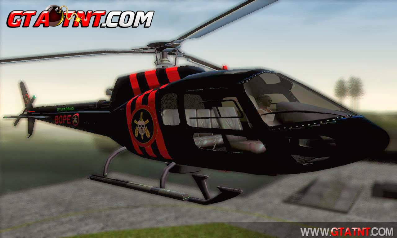 Helic�ptero do Bope para GTA San Andreas