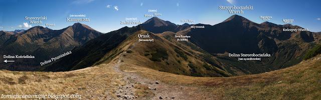 widok, ornak, widok ornak, widok na ornak, tatry, tatry panorama, tatry zachodnie, starorobociański wierch, bystra, błyszcz, kamienista