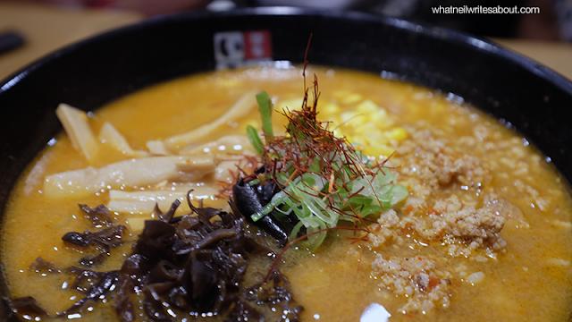 Neil Writes About Ramen Iroha's Tokyo Ramen Show winning Ramen Offerings Spicy Miso Tantan Men