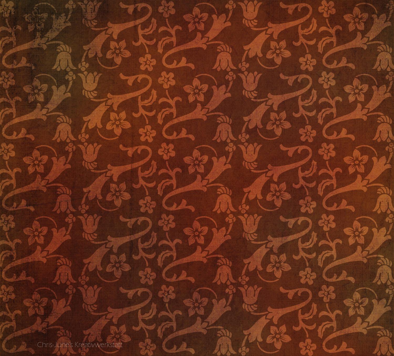 Ornament-Blumen-Muster mit Textur