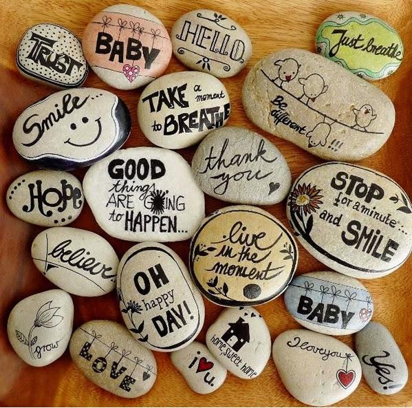 Manualidades pintar y decorar piedras a mano consejos for Piedras pintadas para jardin