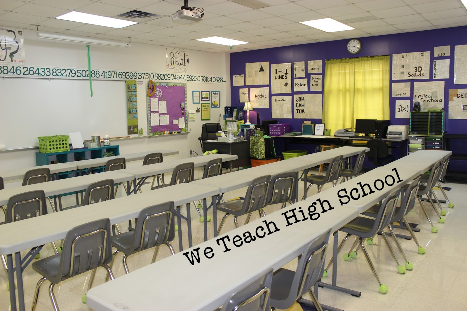 High School Math Classroom Design ~ We teach high school math classroom