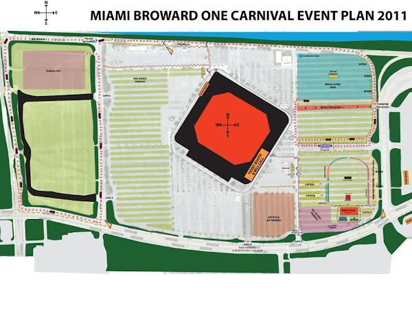 Miami / Browward Carnival 2011 Parade Route