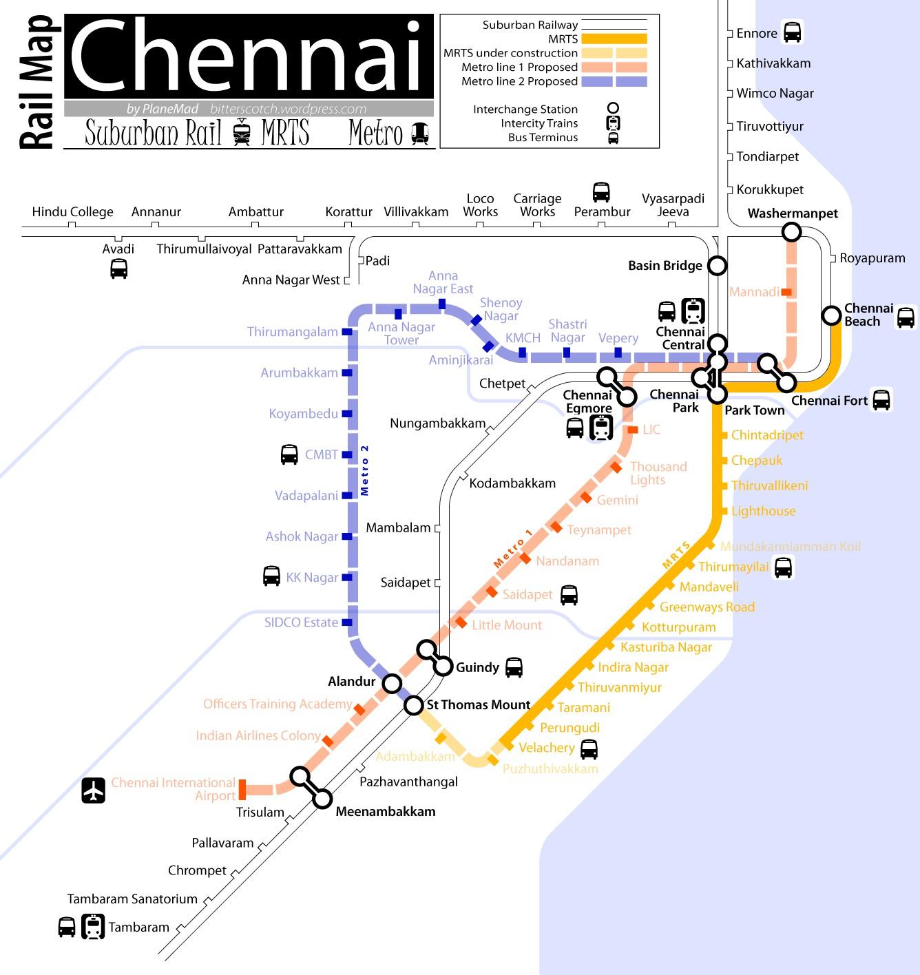 Fish aquarium in vadapalani - Chennai Rail Map Suburban Mrts 1