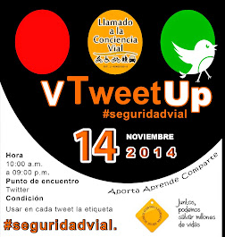 V Tweet Up de #Seguridadvial
