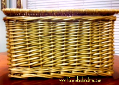 basket before Decorative Wicker Storage Basket Makeover