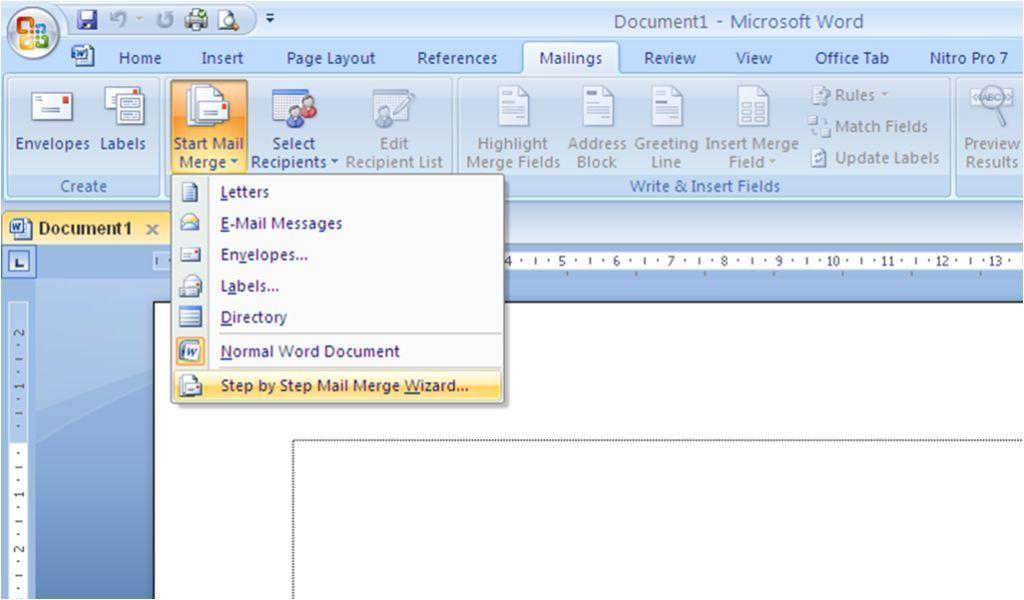 Maro River: Cara Membuat Mail Merge Pada Ms Word 2007