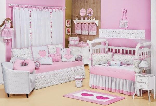 Fotos de dormitorios para beb en color rosa dormitorios - Color paredes habitacion bebe ...