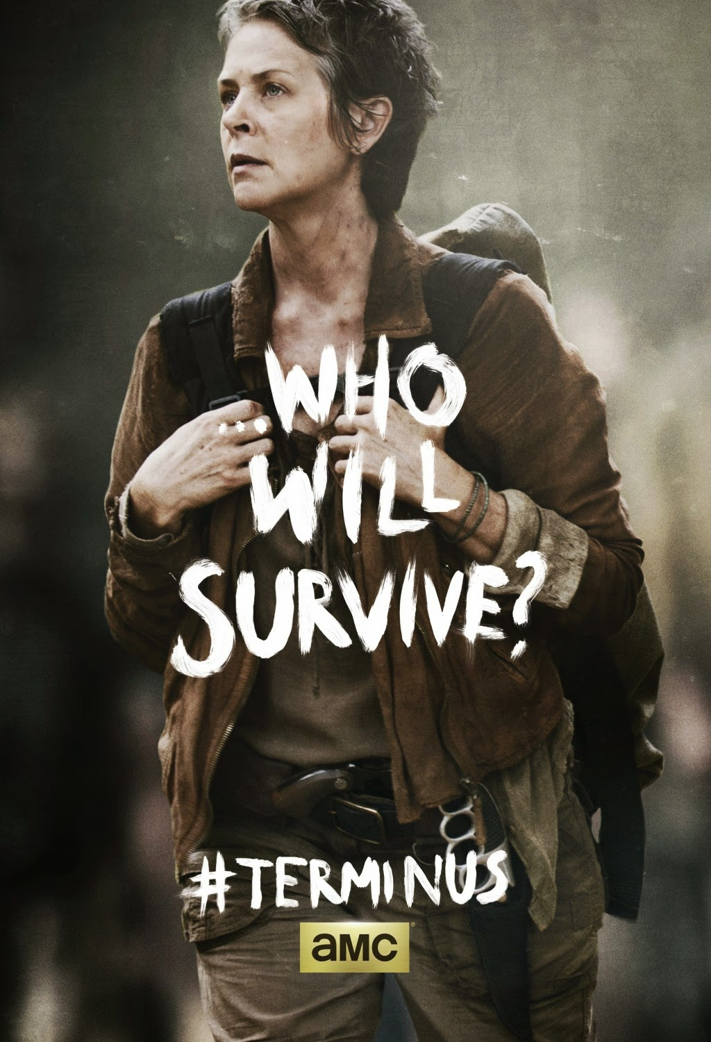 "The Walking Dead Season 4 Finale ""Terminus"" One Sheet Television Posters - ...Who Will Survive? - Melissa McBride as Carol Peletier (with Judith Grimes)"