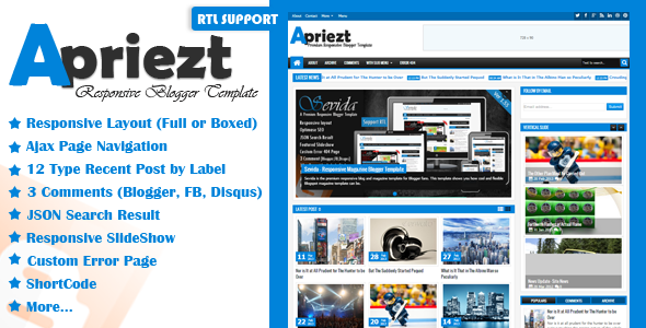 Download Apriezt Themeforest Blogger Template For Free