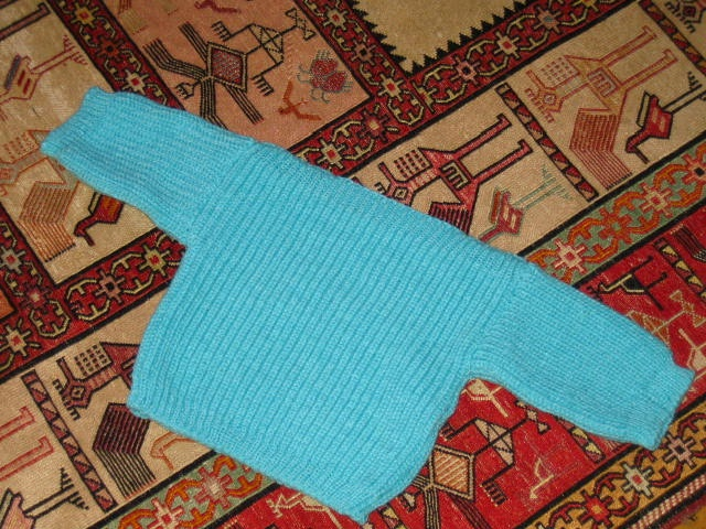 Marzipanknits: Baby Pullover in English Rib