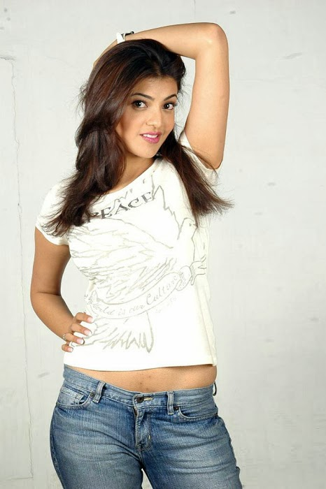 Kajal Agarwal Hot And Cute In Tight T-shirt & Jeans Photos