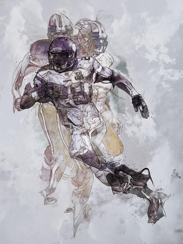 Sport Illustrations by Krzysztof Domaradzki