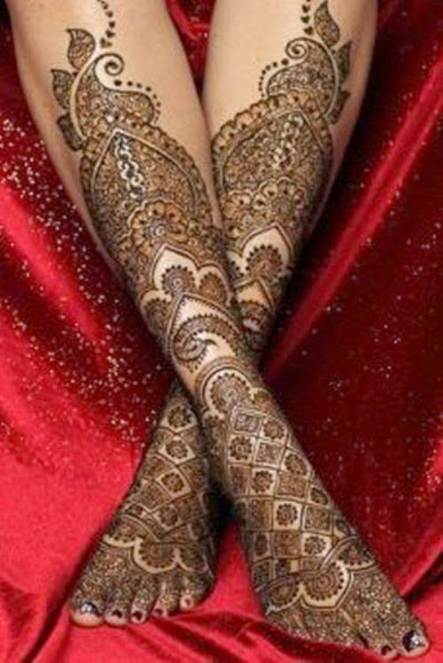 Mehndi Hairstyles 2014 : Dulhan mehndi designs bridal