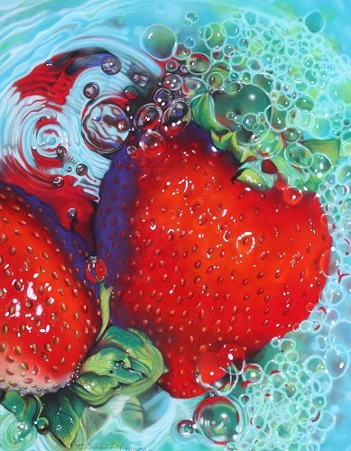 Strawberry Fusion - Pastel Painting
