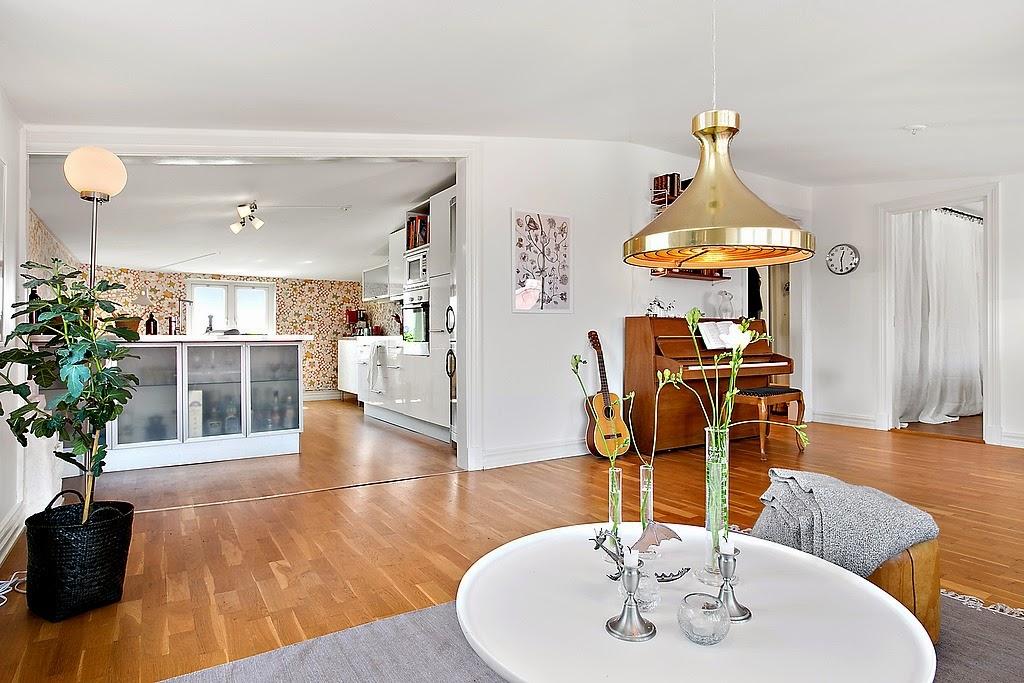 Amplitud en un piso de 59 m2 decorar tu casa es for Decorar piso 56 m2