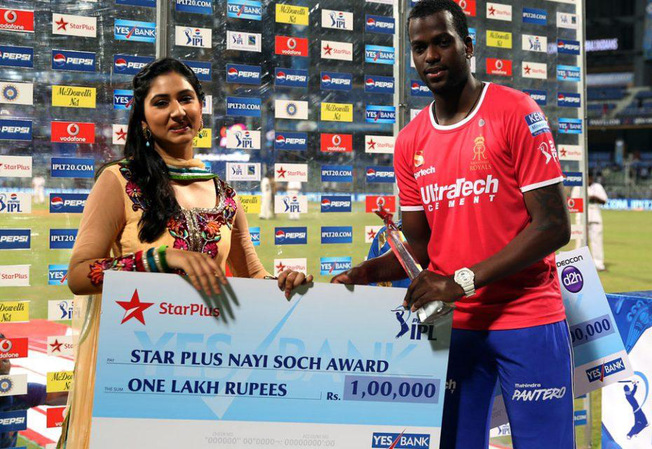 Kevon-Copper-Star-Plus-Nayi-Soch-Award-MI-vs-RR-IPL-2013