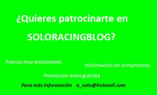 ¿Quieres patrocinarte en SoloRacingBlo?