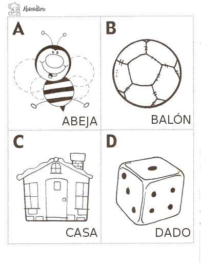 la casa de chichi: ABC ilustrado para colorear imprimible