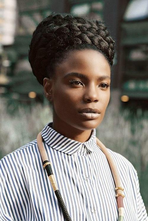 femme model noir black tresse