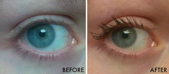 Younique Moodstruck 3D Fiber Lashes+ before and after results